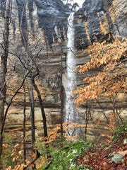 Ben DuMas hiked to Hemmed in Hollow Falls Monday after