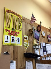 "The Green Hills Trader Joe's shows the ""countdown to wine"" on a poster in its store."