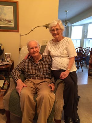 Nathan and Evelyn Graham in their home in La Vergne on Dec. 31, 2015. The Grahams celebrated their 70th anniversary on New Year's Day.