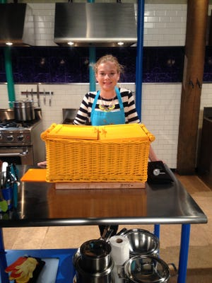 """Sabrina Swee, 13, competes on the Food Network show """"Chopped Junior"""" on Jan. 12, 2016."""