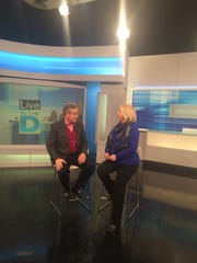 """Sylvia Rector talks about her """"Restaurant of the Year"""" pick with Guy Gordon on WDIV-TV Channel 4 on Feb. 6, 2015."""