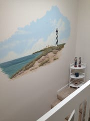 Kathy Denk and Pam Mason painted this mural in a condo.