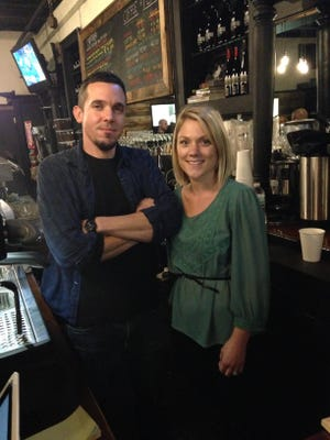 Owners Jeremy and Erin Intonti are shown at Underground Coffee and Ales in Highland.