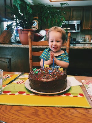 Only one thing surpasses his love for balloons, and that is his love for a good cake.