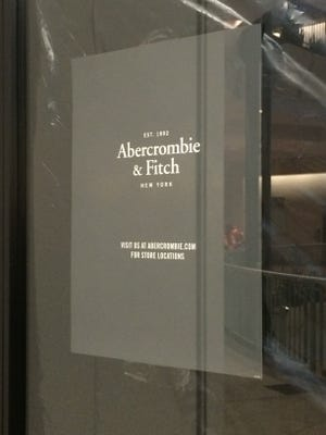 The Abercrombie & Fitch store in Circle Centre mall closed Sunday.