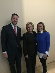 Hillary Clinton with David Adelman (6 feet 3 inches)