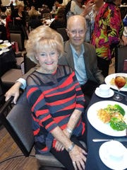 Patrons Sue and Jerry Wheeler enjoying a delicious lunch.