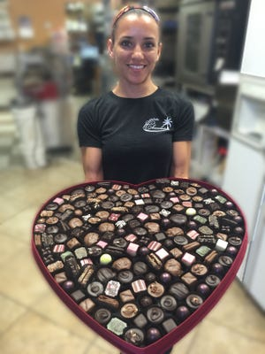 This seven-pound box of chocolates comes in a big heart-shaped box at Olde Naples Chocolate in North Naples. Cost: $250.