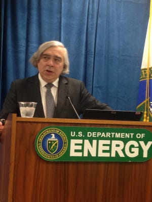 Energy Secretary Ernest Moniz explains the department's 2017 budget request, which includes $100 million for the Facility for Rare Isotope Beams at Michigan State University.