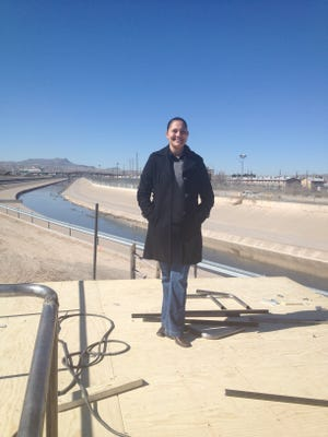 Mexican architect Abril Sanchez was honored to design the small altar where Pope Francis will pray in solitude for immigrants near the Rio Grande in Juarez.