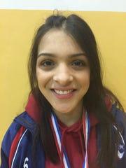 Americas sophomore wrestler Adrienne Garcia