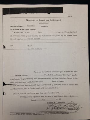The 1979 warrant for Cooper's arrest