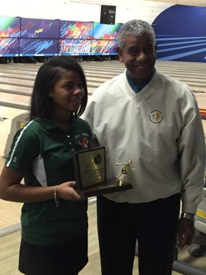 South Plainfield's Lanasia Neal won the NJSIAA Individual Bowling Tournament title on Wednesday at Carolier Lanes in North Brunswick.
