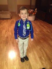Jayden Blumrich, 6, 2016 Boy of the Year.