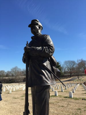 Thursday marked the 10th anniversary of the unveiling of the Nashville National Cemetery's only statue honoring the U.S. Colored Troops for the Union Army.
