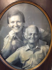 Stanley Dwyer, left, and his dad, Michael Dwyer, are