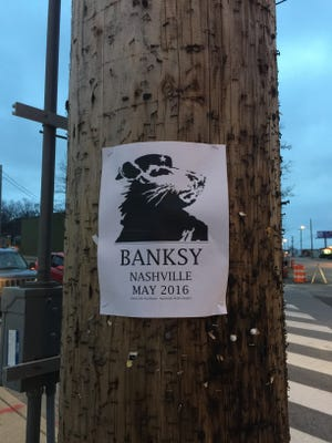 Banksy posters went up around Nashville, causing buzz among street art fans.