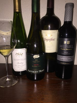 The 2009 Red Newt and 2008 Anthony Road Rieslings, the 2001 Franciscan Magnificat Cabernet and the 2008 Muriel Reserva Rioja