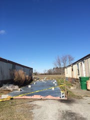 A strong wind tore the roof off of a Fruitland trailer