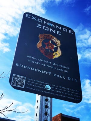 Fort Collins Police Services designated exchange zones for citizen transactions.