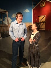 """Austin Voltin and Courtney Miller in the Regis High School production of """"Oklahoma!"""""""
