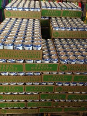 Cases of Bernie Weisse for sale Tuesday at Zero Gravity Craft Brewey on Pine Street. The brewery sold out of about 300 cases.