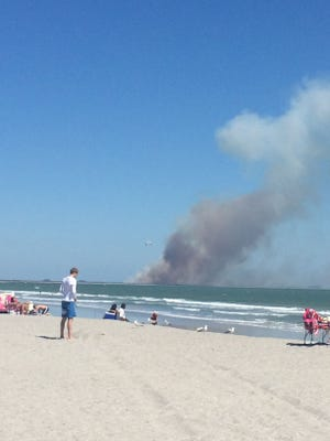 A controlled burn is underway at Canaveral Air Force Station