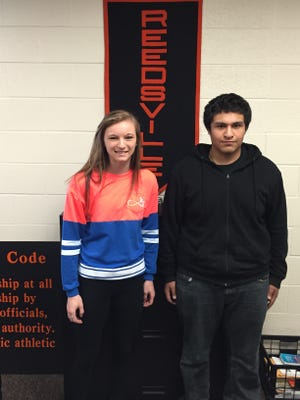 The Reedsville High School February Students of the Month are Kayla Wendland and Zenaido Capetillo.  Students of the Month are chosen by teachers based on academic performance, academic growth and/or demonstration of leadership within the high school.