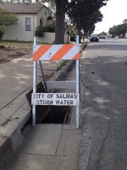Salinas public works have already opened some storm drains so that debris doesn't get caught up in the grates.