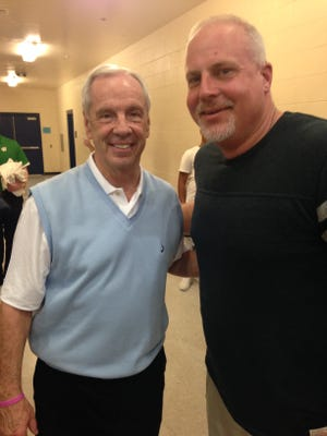 UNC basketball coach Roy Williams and The News-Press staff writer David Dorsey met once again in January at Charlotte High School.