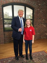 Gracie Wood, 11, with Republican presidential candidate