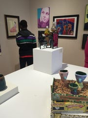 Student-made sculptures and images filled the Mansfield