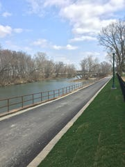 The Riverwalk trail south of downtown Noblesville opened earlier this year.
