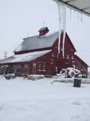 The view of a Malchow Farm barn, built in 1907. The farm was bought by Larimer County on Tuesday.