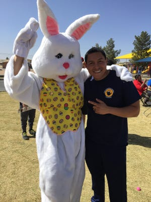 Easter Bunny and Felipe Martinez