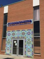 Entrance of the Islamic House of Wisdom in Dearborn Heights, where an interfaith gathering was held on April 5, 2016.