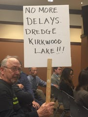 Ed Kelleher of Voorhees protests against Sherwin-Williams