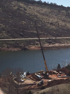 Construction is underway at the Horsetooth Area Information Center, at the South Bay of Horsetooth Reservoir. The new information center is planned to be open to the public by mid-July.