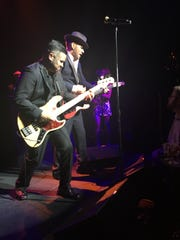 British crooner Matt Goss, in fedora, performs at his