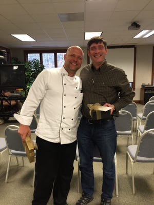 Chef Douglas Walls at the Billy Graham Training Center. with Billy Graham's grandson, Will Graham.