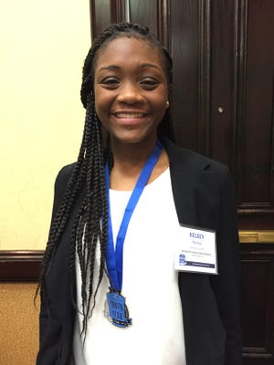 Kelsey Perine of the Boys and Girls Club of South Alabama, Cody Road Unit, wins Alabama Youth of the Year on Wednesday, April 13, 2016.