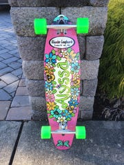 A custom board completed by Khander Longboards.