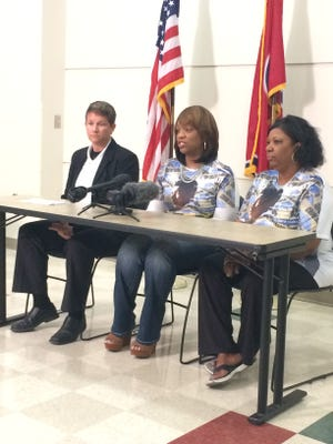 Stacie Payne, center, pleads for witnesses to come forward regarding the 2015 incident at Tennessee State University that led to her son's death.