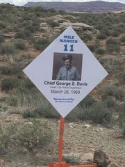 Former Cedar City Police Chief Stan Davis was honored at the Fallen Officers Trail Ride on April, 9 2016.