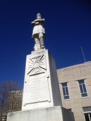 A survey shows 73 percent of Louisianans oppose removing Confederate monuments like the Gen. Alfred Mouton statue on city property in downtown Lafayette.