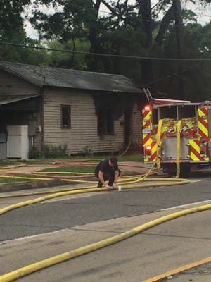 A house fire shut down the southbound lanes of Evangeline Thruway Tuesday.
