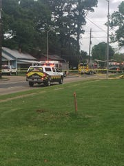 A house fire shut down the southbound lanes of Evangeline