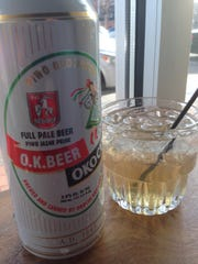Polish beer and a vodka cocktail at Luiza's Homemade