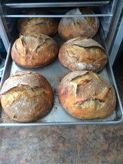 Fresh loaves of sourdough at Black Eyed Susans in Harvey