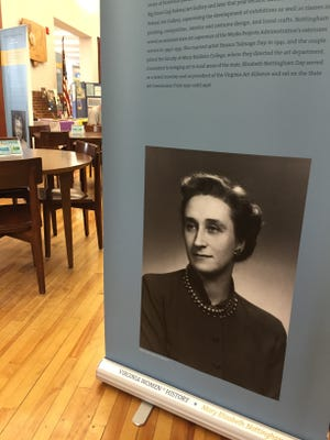 Staunton Public Library offers an exhibit showcasing Virginia Women in History. Photographed here is Mary Elizabeth Nottingham Day.